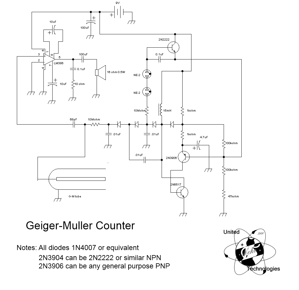 Geiger Counter on telephone circuit schematic, tesla coil circuit schematic, metal detector circuit schematic, geiger counter circuit board,